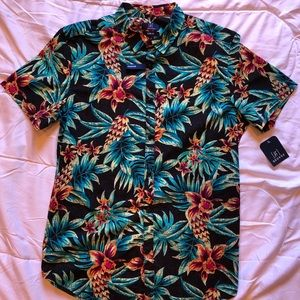 GEORGE Slim Fit Hawaiian Style Button Down